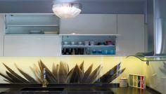 kitchen glass splashback with HQ digital printing directly on glasspanel