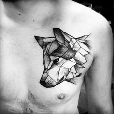 Artist Julia Szewczykowska #geometric #wolf