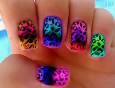 Cheetah Rainbow Nails Good Designs