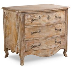 Louis Xv Chest Disrupted White Finish , Sarreid Ltd