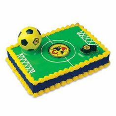 Club America Cake Kit by Bakery Crafts. $5.76. Easy to Make. Club America Soccer Cake Toppers. Includes Club Logo (BALL,WHISTLE,MAGNET). Create a Club America Soccer cake with these cake toppers