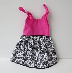 Newborn Baby Dress  Hot Pink with Black and by NecessaryCuteness, $28.00