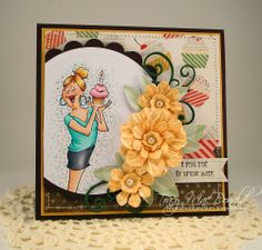 Special Treat by TracyMac - Cards and Paper Crafts at Splitcoaststampers Birthday Cards For Girlfriend, Art Impressions Stamps, Retirement Cards, Crate Paper, Cards For Friends, Handmade Birthday Cards, Scrapbook Cards, Scrapbooking, Funny Cards