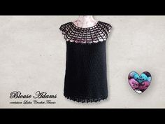 """Concours! Blouse """"Adams"""" Crochet toutes tailles """"Lidia Crochet Tricot"""" - YouTube Blouse Au Crochet, Lidia Crochet Tricot, Short Sleeve Dresses, Dresses With Sleeves, Youtube, Fashion, Blouses, Wool, Cotton"""