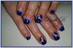 Bluesky gel polish BLZ02  http://radi-d.blogspot.com/2015/03/royal-blue-glitter-tips-one-stroke.html