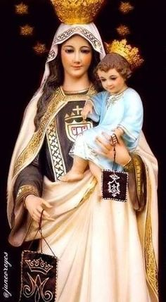 Mary Jesus Mother, Blessed Mother Mary, Mary And Jesus, Blessed Virgin Mary, I Love You Mother, Mother And Child, Happy Bday Wishes, Jesus Christ Painting, Jesus E Maria