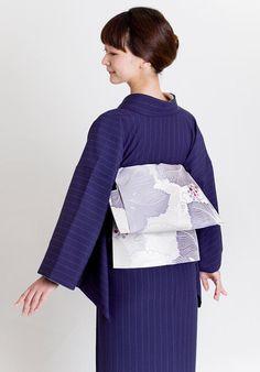 着物屋くるり / 着物フォトギャラリー | オルタナコモン【広重】と博多織名古屋帯【VENA】のコーデ
