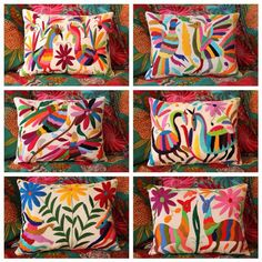 Amazing Otomi embroidered piloows by Casa Otomi