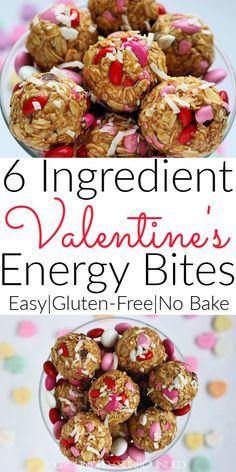 Recipes Snacks Kids The BEST 6 Ingredient Valentine Energy Bites Valentines Healthy Snacks, Valentines Baking, Valentine Treats, Party Snacks For Adults Appetizers, Snacks Für Party, Keto Snacks, Easy Baking Recipes, Whole Food Recipes, Simple Recipes