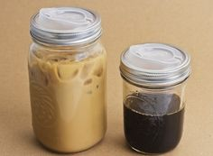 Plastic drinking lid for mason jar. Sippy cup for coffee?? What a fantastic idea