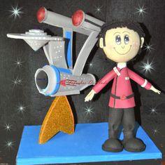 Las Fofuchas De Hada: Fofucho Capitan Kirk con la nave Enterprise