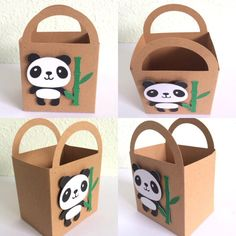 Set of 12 Panda Party Favor/Treat Bag by JsPaperDesigns on Etsy