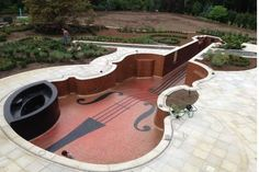 Minus the chinrest, and you have a cello-shaped swimming pool to go with the piano-shaped pool we posted a few days ago. <<Holy wow that'd be waaaay cool! Piano guys are THE BESTTTT Home Music, Teen Lounge, Pool Shapes, Violin Music, Violin Art, Cool Pools, Pool Designs, Jacuzzi, Music Lovers