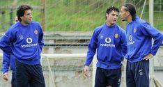 Ronaldo Images, Ruud Van Nistelrooy, Manchester United Training, Rio Ferdinand, Sir Alex Ferguson, Old Trafford, Cristiano Ronaldo, Real Madrid