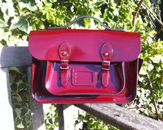 Burgundy Patent Perfect for Xmas!