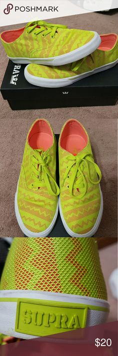 low priced 7b191 f0f73 SUPRA Womens size 9 sneakers   SUPRA Womens size 9 Orange Tennis-white    Only wore a few times in EUC. Supra Shoes Sneakers
