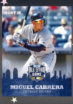 2016 Topps Bunt Miguel Cabrera All Star Game Insert Digital Card Tigers | eBay