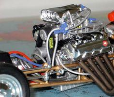 Model Car Engine Detail