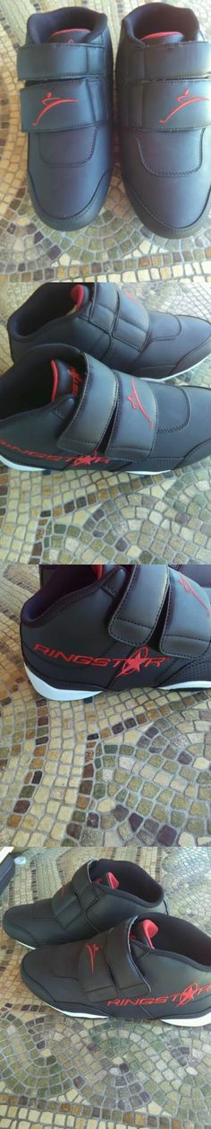 Shoes and Footwear 73989: Ringstar Fightpro Martial Arts Sparring Shoes Mens Size 10 Black BUY IT NOW ONLY: $35.0