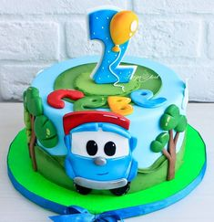 Cake Truck Birthday Cakes, Truck Cakes, Cars Cake Design, Berry Chantilly Cake, Car Cakes For Boys, Buttercream Cake Designs, Baby Boy Cakes, Celebration Cakes, Cake Toppers