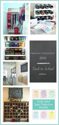 Operation: Organization--a collection of ideas to get organized for back to school by top organizing bloggers