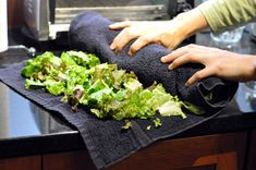 Best Way To Keep Greens Fresh? The Bath Towel Method!