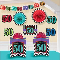 50th Birthday Chevron Mix Decorating Kit (Each)