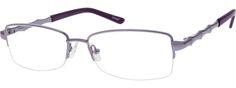 Women's Purple 6589 Metal Alloy / Stainless Steel Half-rim Frame With Spring Hinges | Zenni Optical Glasses-kNJPTWFu