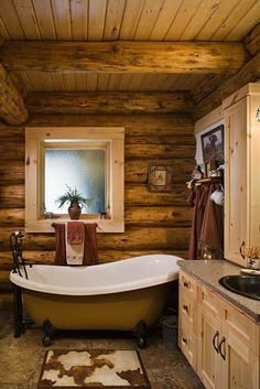 log bathroom | Spark | eHow.com