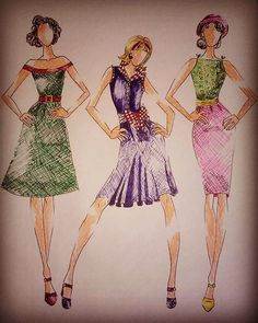 #style #design #fashion #designer #fashiondesigner #student #studentasfashiondesigner #illustration #fashionillustration #inspiration #inspiredbyfifties #fifties #girl #woman #moda #womenswear #pen #stabilo