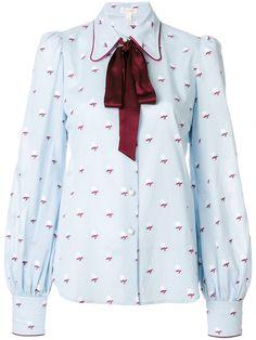 Marc Jacobs rose fil coupe tie neck blouse