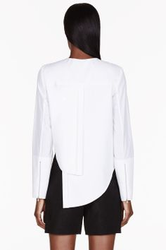 DION LEE White cut-out Imbalance blouse - Back - $590 @SSENSE.com