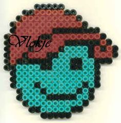 Smiley cap hama beads by Vlokje