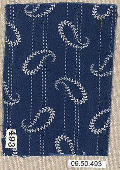 Piece (one of Date: century Culture: German Medium: Cotton Dimensions: No dimensions recorded. Classification: Textiles-Printed Credit Line: Rogers Fund, 1909 Accession Number: Border Embroidery Designs, Kurti Embroidery Design, Fabric Paint Shirt, Fabric Painting, Hand Embroidery Dress, Hand Embroidery Stitches, Printing On Fabric, Sewing Patterns, Kantha Stitch