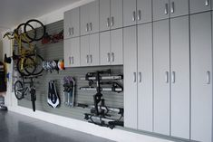 Clutter overtaking your garage? Cant find your gardening tools or toys? Get a head start on your spring cleaning with these garage organization ideas. Garage Storage Solutions, Diy Garage Storage, Garage Shelving, Garage Shelf, Home Organization Wall, Garage Organisation, Organization Ideas, Workshop Organization, Workshop Ideas