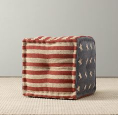 And of course you need a second coordinating ottoman for a patriotic nod to the good ol' US of A.