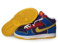 Cheap Kid's Nike Dunk High Shoes Dark Blue/Wheat/Red/Dark Navy For Sale from official Nike Shop. High Shoes, High Top Sneakers, Sneakers Nike, Nike Dunks, Cheap Shoes, Dark Navy, Jordan Shoes, Nike Free, Air Jordans