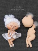 Мастер-класс и выкройка броши-куколки Монро по иллюстрациям Евгении Гапчинской.