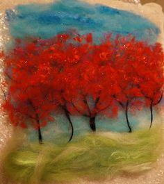 Ginger Wilson: Wet felting a landscape