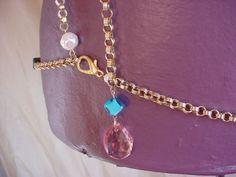 Vtg Hip Chain Waist Jewelry Renaissance Medieval Garb Faux Pearl Glass Beads A12 #Handmade Seller florasgarden on ebay
