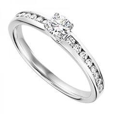 18ct White Gold 0.50ct Diamond Solitaire Ring #diamonds #diamondrings #engagementring #love #wedding #fashion #style #jewellery