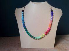 Super Easy DIY Rainbow Necklace