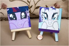 Paintings: Mlp fim Twilight Sparkle and Rarity by MilkyBoutique.deviantart.com
