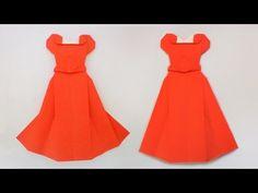 Origami princess dress พับกระดาษชุดเจ้าหญิง