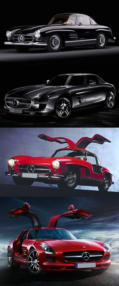 Then and Now: Mercedes 300SL and Benz SLS AMG - This is a nice compilation and coming together of the beautifully designed, styled and classic Mercedes Benz 300SL (C197) and the new-comer, the very bold and beautiful Mercedes SLS AMG (W198) Gullwing super sports car. http://www.ruelspot.com/mercedes-benz/then-and-now-mercedes-benz-300sl-and-sls-amg-cars/ #Mercedes300SL #MercedesSLSAMG #MercedesGullwing #Gullwing #ClassicMercedes