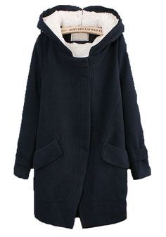 Super Cozy Hooded Wool Coat