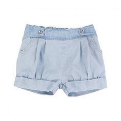 Striped Shorts Denim  Chloé