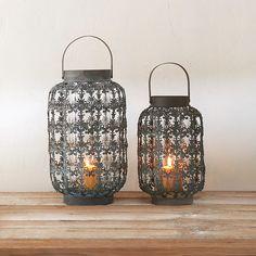 Open Brocade Oval Lantern