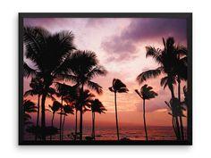 Palms At Sunset Photography Print | Wall Art | Sea | Beach | Palm Trees | Cheap Art Prints | Large Wall Art | Poster | Nature Art | Boho