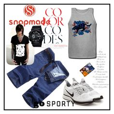 """""""Snapmade7/5"""" by fatimazbanic ❤ liked on Polyvore featuring NIKE, G-Shock, men's fashion and menswear"""
